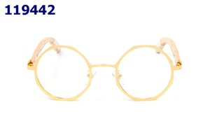 Octagonal Brand Designer Hombre Mujer Cuerno Marco Cuerpo Gafas Redondas Gafas Luxury Bambú Piernas Gafas de Sol Silver Gold Metal Frame Buffalo DSVQW