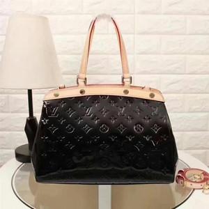 2020 M91619 New Patent Leather Fashion Women Handbag Shoulder Bags Hobo Handbags Top Handles Boston Cross Body Messenger Shoulder Bags