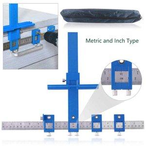 Taladro ajustable ponche Localizador métrica y pulgadas Tipo de muebles de la madera Regla Taladro cajeadoras agujero localizador de sierra