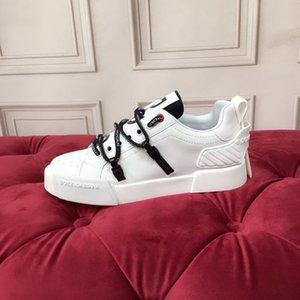 Dolce & Gabbana D&G 2020q uomini e graffiti con lacci scarpe da tennis casuali dipinti a mano delle donne, alla moda wild-fascia alta scarpe paio banchetto, formato: 35-45 hgmny07