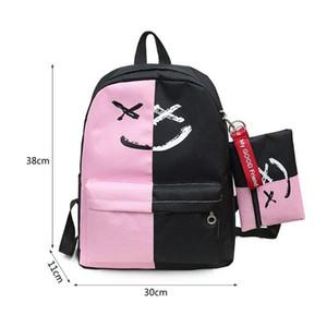 Дизайнер-THINKTHENDO женский рюкзак с небольшой сумкой студент путешествия школьные сумки для подростков девушки сумки на ремне для женщин 2018