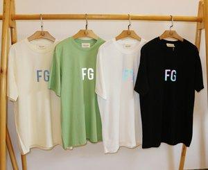 logotipo de nuevos Mens 3M reflectante FG Top Tees El miedo a la carta dios impreso niebla t manera de la camisa hiphop verano