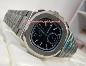 Articoli molto alta 40 millimetri Classic Series Qualità Nautilus 5990 / 1A acciaio inossidabile Asia meccanica trasparente Orologi dell'orologio Mens automatica