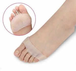 Front-Fuss-Auflage Elastic öffnen Zehe-Absatz-Silikon-Gel-Einlegesohlen Toe Füße Pads Schutz Sorgfalt-Werkzeug Schuhe rutschfeste Kissen Schmerz Unterstützung