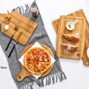 Turno di bambù Tagliere ecologico taglio tagliere Block Consiglio Sushi Plate Vassoi pane piatto piatto di frutta Sushi vassoio KKA7918