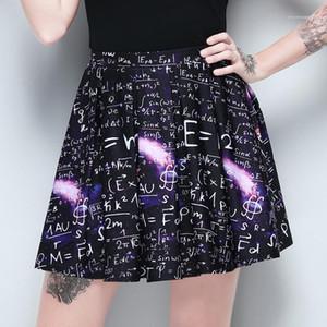 Sumemr Dark Designer Faamle Casual Clothing Mathematical Print High Waist Skirt Womens Fashion Pleated Skirt