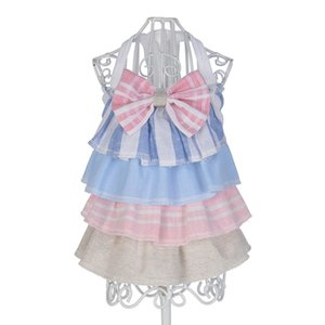 Spring And Summer Bow Cake Skirt Dress Dog Costumes Pet Clothes 2019 NEW Dog Clothes Pet cake skirt For Small Dogs