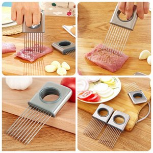 Marca New Domestic Fácil Onion Titular ferramentas cortador de vegetais Tomate cortador de aço inoxidável Kitchen Gadgets No More Mãos Stinky