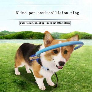 Ciego para mascotas anticolisión Anillo Collar de Halo seguridad arnés para perros ciegos Escorpión cataratas de Protección de Animales Guía Círculo Y200515 perro
