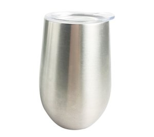12oz wine tumbler stainless steel champagne cup double wall vacuum insulated coffe water mug with lid