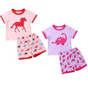 2019 İlkbahar NEW'in 2adet Bebek Yenidoğan Bebek Kız tişört şort Kıyafetler Seti Giyim Sleepwear Tops