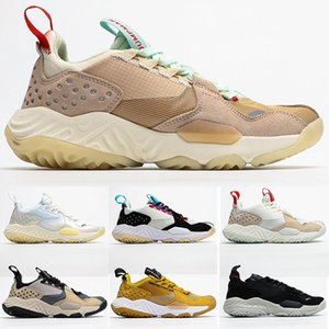 New Jumpman Delta React SP Vachetta Tan basketball shoes Men Women Sail light-cream Gym Red sport Sneakers Mens designer Trainers size 36-45