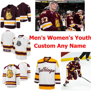 Minnesota Duluth Bulldogs Hockey Jerseys Women's Nick Swaney Jersey Noah Cates Jesse Jacques Cole Koepke Tanner Laderoute Custom Stitched