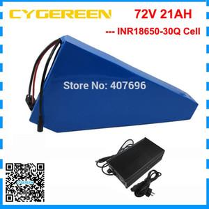 Alta qualità batteria 5000W 72V 72V 21ah batteria triangolo 72 V bicicletta cella uso della batteria 30Q 70A BMS con 84V 2A caricatore