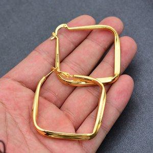 Африка Дубай Arab цвет золота серьга для женщин Эфиопии ювелирных изделий оптовых квадратных серег Цветы серьги подарки