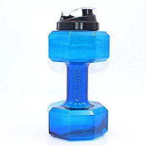 75 Oz (2.2 L) Dumbbell Shaped Water Bottle   Big Capacity   BPA Free Flip Top Leak Proof lid