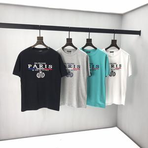 20SS Französisch neueste Frühling und Sommer super gute Qualität Brief einfache Art Druck T-Shirt gemischte Baumwollbeiläufigen wilden Top-Mode-Damen-T-Shirts