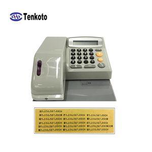 Nueva inyección de tinta de la impresora Comprobar Banco Internacional 16 países cheques en moneda grabado en relieve Palabras Terminal de verificación Impresión sin lector de tarjetas