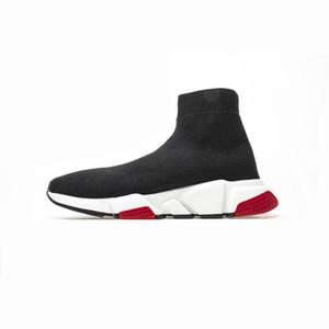 2020 Zapatos plana de la manera del calcetín de lana de punto de Trend velocidad Entrenadores Hombres Mujeres Zapatos ocasionales del envío libre con la caja
