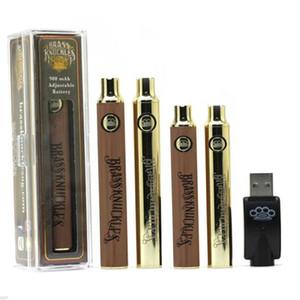 Латунные кастеты подогревают батарею 650mah 900mah Golden Wood Preheating Batteries VV Vape Pen 510 резьба для подключенного масляного картриджа Abracadabra