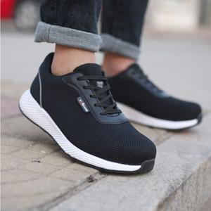 Hot venda- Sapatos de segurança Toe Trabalho leves respirável Sapatos anti estática Reflective Casual Construção Leve respirável Men segurança