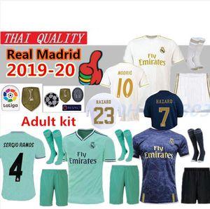 Novità 2019 Real Madrid HAZARD SOCCER JERSEYS KIT 4 EA Sports Soccer Jerseys 18/19/20 Home MODRIC MARCELO 2020 3rd VINICIUS JR KROOS ISCO ASENSIO BALE Maglie di calcio
