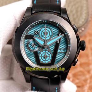 TNK Limit version Leica Valbray EL1 Oculus диафрагма жалюзи циферблат черный PVD стальной корпус 7750 механические хронограф мужские часы роскошные часы