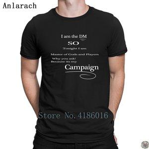 DM mestre camisetas Verão Estilo HipHop Humor camisetas de algodão para homens Personalizar roupas Padrão Anlarach presente