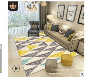2020 горячей продажи ковер гостиной журнальный столик имитация шерстяной ковер Спальня супер мягкий, модно и просто. Геометрический DT07