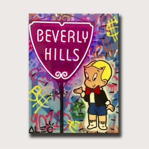 Alec Monopoly Richie Bev Hills Neon Sign,HD Canvas Printing New Home Decoration Art Painting (Unframed Framed)marvel Villains
