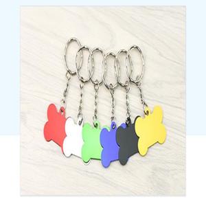 Dog Tag ovale Fashion forme d'os de chien Carte d'identité Pure Color en alliage d'aluminium couleur de sucrerie Dog Tag WY342Q