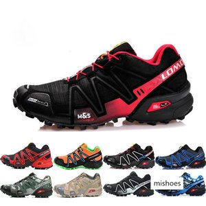 arrive Speed cross 3 CS III running Shoes mens shoe cross country Black Silver Outdoor sport shoes Running sneakers shoes