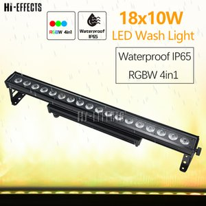 2pcs / серия LED Wall Wash свет диско 18x18W 4в1 / 6in1 Водонепроницаемый LED Washer Pixel Control DMX DJ света LED Wash свет Открытый