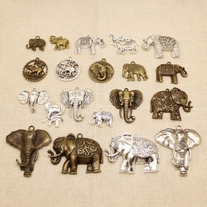 20 Pieces Metal Charms For Jewelry Making Animal Elephant Ivory HJ061