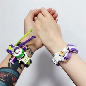 17 stili di carattere bracciali braccialetto edificio blocco tessere cartone animato tessute amano studenti scherza il regalo braccialetto a buon mercato all'ingrosso JY841