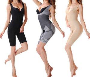 hot natürlicher Bambus Abnehmen von Körper-Anzug Formerunternehmen Control Anti Cellulite Unterwäsche Ganzkörper schlanke shaperwear Taille Ausbildung