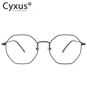Cyxus Anti Blue Light Computer Glasses for Blocking UV Eye Strain Reading Eyewear Stainless Steel Frame for Unisex 8008