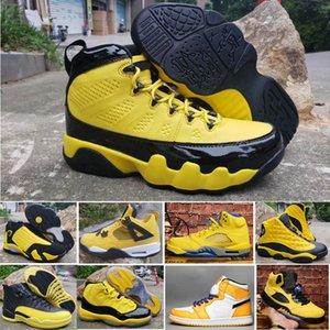 Jumpman Bumblebee 1 4 5 9 11 12 13 14 Pattini di pallacanestro I IV V IX XII XIII XIV uomo Yellow sport di pallacanestro della scarpa da tennis Stivali dimensioni 7-12