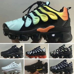 Air Cushion Plus TN Kids Shoes VaporM Boys Girls Running Sneakers Brand Bleached Aqua Bumblebee Lemon Lime Baby Trainers Shoes Size 24-35