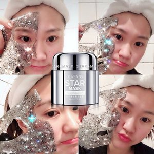 QIAFANS Star Face Facial Mask Luxurious Star Glitter Mask Glitte Moisturizing Gold Peel off Black Facial Mask From Black Dots