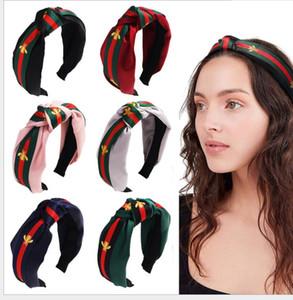 Diseñador de Yoga Ejecución de Bandas Deportes hairband para las mujeres de moda del pelo del turbante a rayas vendas de la impresión del modelo de abeja Accesorios para el cabello