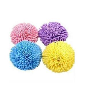 Toptan-Şeker Renk Doğal Banyo Ball Yumuşak Rahat Banyo Sünger Kolay Temizleme Banyosu Çiçek Sünger