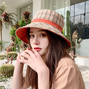 2020 new design luxury BB L brand same female hat sunscreen hat wild double-sided wearing hat free shipping