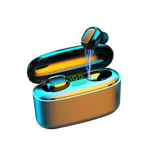 G5S 3500mah LED Bluetooth Беспроводные наушники Наушники Наушники TWS сенсорное управление спортивная гарнитура шумоподавление водонепроницаемый для мобильного телефона