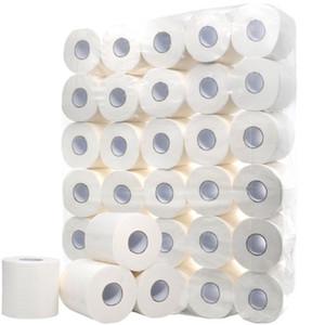 10 Rollo 4 capas blancas de papel higiénico rollo de papel higiénico de tejidos paquete de 10 4 Capas Papeles suave toallas de papel