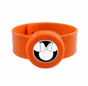 mouse1 bambini Silcone regolabile repellente della zanzara del braccialetto di olio essenziale diffusore Slap Bracciale in acciaio inox Diffusore Locket