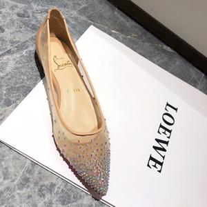 Sıcak Satış Kadınlar Düz Ayakkabı Moda Parti Düğün Ayakkabı Su Mesh Düz Ayakkabı iyi Matkap