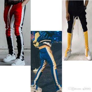2018New Colour Fear Of God Fifth Collection track pants calabasas side zipper casual sweatpants men hiphop joggers pants.