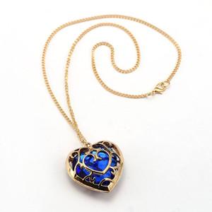 10 шт. Hsic Новая Мода Легенда Синий Красный Кристалл Сердце Кулон Любителей Пару Ожерелье Для Любителей Zelda Hc12233 C19041203