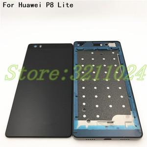 Nouveau couvercle de la batterie pour Huawei P8 Lite couvercle du boîtier LCD cadre avant + couvercle de la batterie arrière + cadre moyen autocollant adhésif + boutons